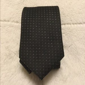 Black and metallic tie